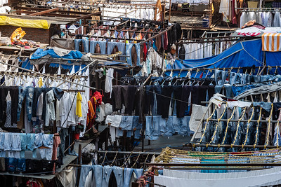 closeup Dhobi Ghat laundry