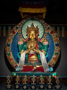 Gompa Himalyan Buddhist altar