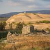 border with Jordan & ruins of kibbutz