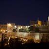 night view old city walls Jerusalem