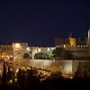 night view old city walls Jerusalem
