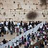 throngs at Western Wall