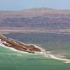earthen dam in Dead Sea