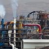smokestacks of Dead Sea Works