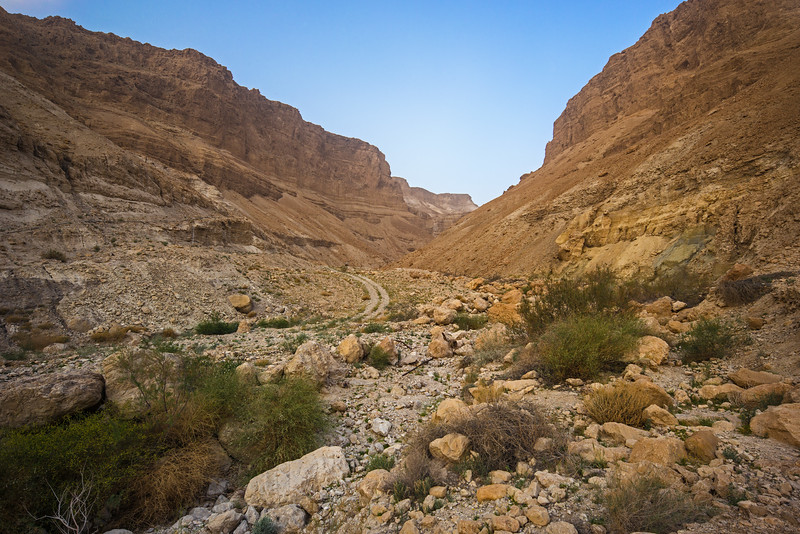 trail beside Masada