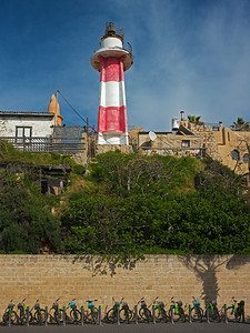 bicycles & lighthouse Jaffa