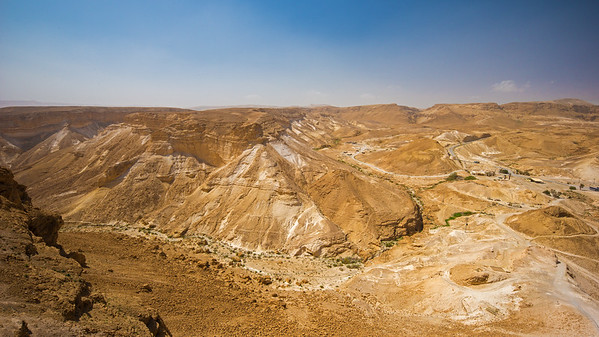 late morning view from Masada
