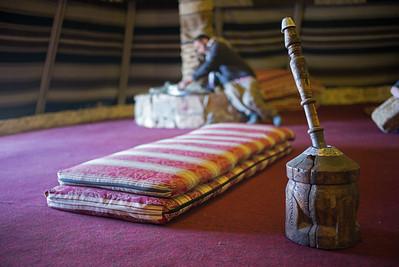 coffee mortar & pestle in Bedouin tent