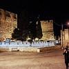 two chasidim outside Citadel of David