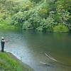 Stan casting on Waitangi River