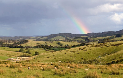rainbow near Waitangi River