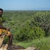 Heyana overlooking Hadza land