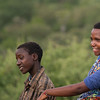 two Hadza adolescent boys