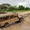 first safari vehicle fording river