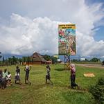 sign explaining how Corruption in procurement worsens poverty