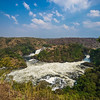 both branches of Murchison Falls long view