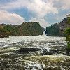 Victoria Nile w Murchison Falls in background