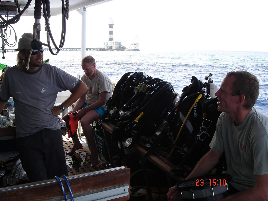 Its important, on the first day of any trip, to scare the crap out of your host with tales of previous near death dive experiences  :-)