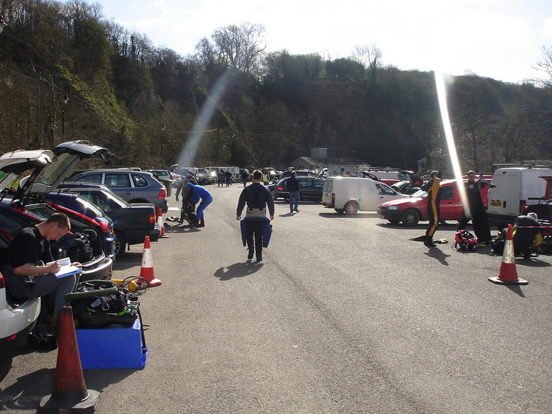 Car boot sale for dive gear (actually stoney cove carpark)
