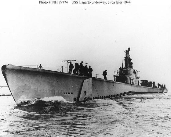 USS Lagarto  - 78m - Gulf of Siam