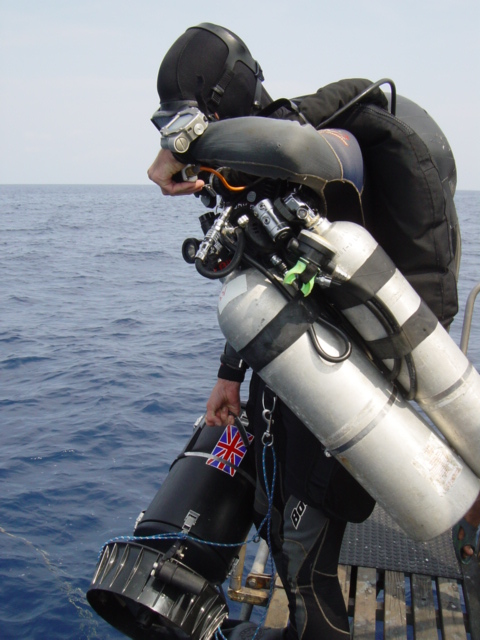 Diving the HMS Repulse with my MK15.5
