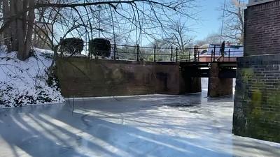Frozen moat around Maurick Castle