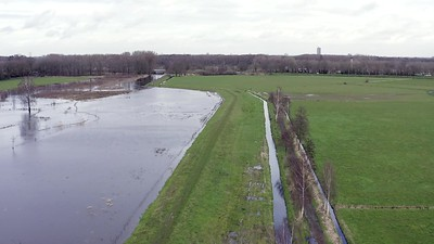 Bleijendijk with high waters