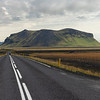 Driving at N1 circle road, Iceland