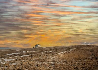 Snyder barn-1-9 orange sky