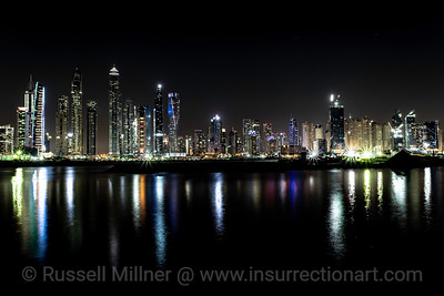 Night time Dubai from The Palm