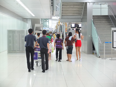 Family at airport: Bangkok