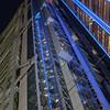 High rise neon detail