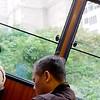 Riding tram up the peak: Hong Kong