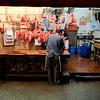 Butcher at Hong Kong market