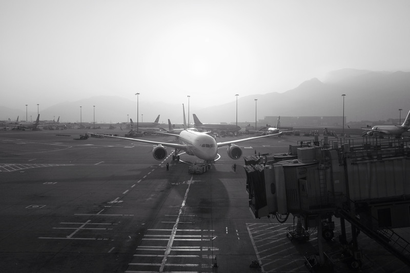 Airplane departure, HKG