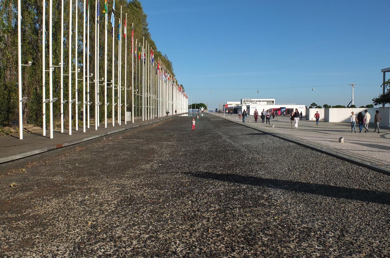 Flags at Expo site, Parque das Nações