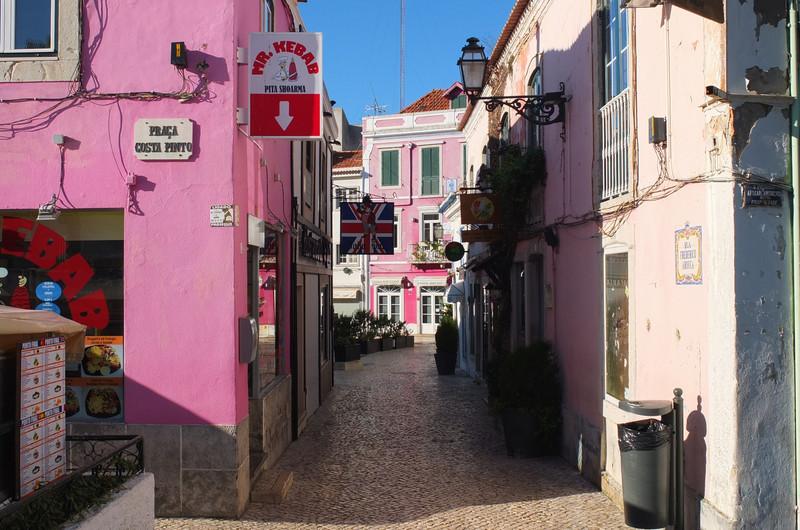 Mr. Kebab's pink building