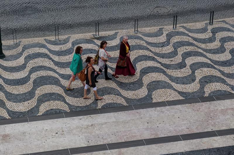 Walking to festival