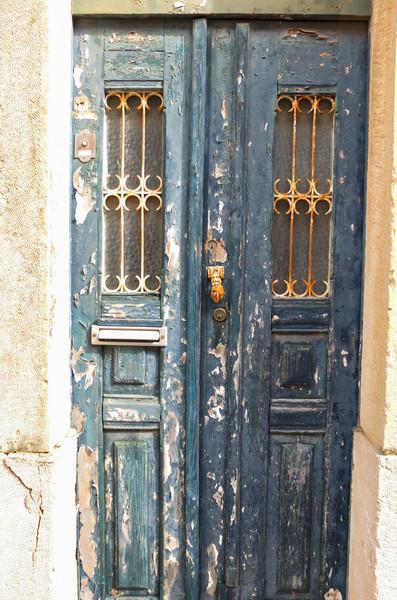 Typical doorway: blue