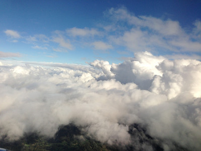 Flying in to SFO, looking west