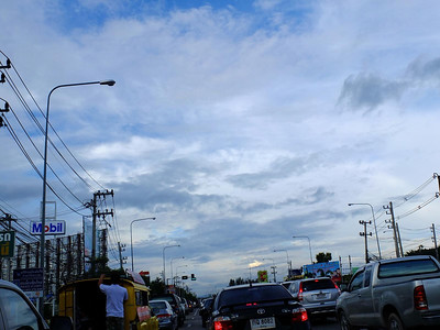 Chiang Mai street and sky