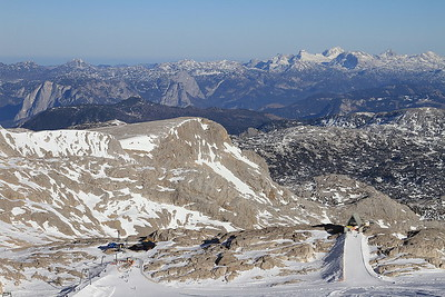 Mountain scenery viewed from the Hunerkogel cable car station - 31/12/15.