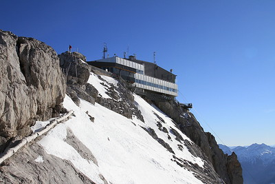 Hunerkogel cable car station / restaurant perched atop the mountain - 31/12/15.