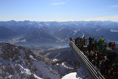 View from the Hunerkogel cable car station down to the valley below - 31/12/15.