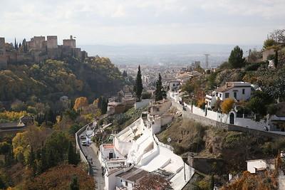 Panorama of the Alambra, Granada & Sacromonte viewed from Sacromonte cave museum - 17/11/18