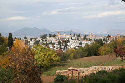 AlbaicÍn viewed from inside the Palacio de Generalife gardens - 18/11/18