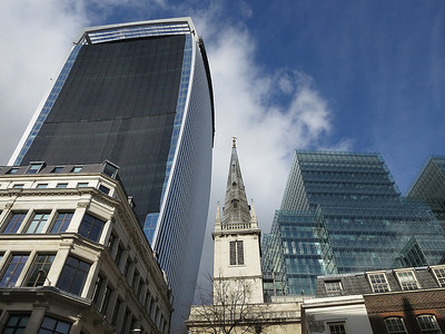 """Close up of the new """"Walkie Talkie"""" nearing completion  - 07/03/14."""
