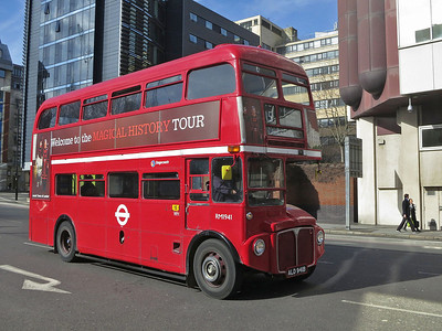 Heritage-fleet Routemaster RM1941 on Route 15 from Trafalgar Square to Tower Hill  - 06/03/14.