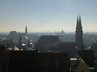 Nürnberg viewed from the Castle - 31/12/16.