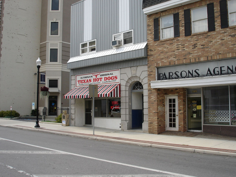 In the heart of downtown Altoona, PA sits Texas Hot Dogs